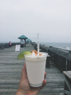 Key lime colada on the pier