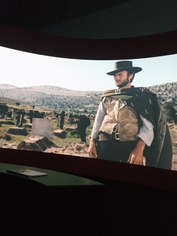 The Clint Eastwood area was one of my favorite parts of the exhibit.