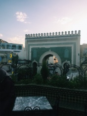Bab Bou Jeloud, the most famous of the many gates out of the medina