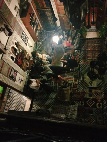 We spent our last night in the hostel in a suite overlooking the main room of the riad. May or may not have done a bit of spying on the guests and staff.