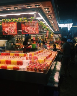 La Boqueria is the market of all markets. SO MUCH FRESH JUICE.