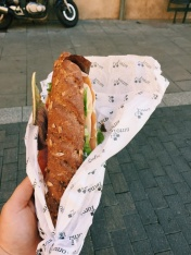 This simple sandwhich was one of my favorite foods on the whole trip.